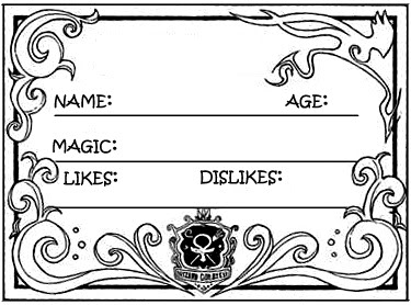 Character Template Magecard