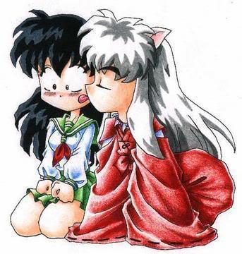 imagenes de parejas de inuyasha 1 ChibiinuyashalickingchibiKagomeonth