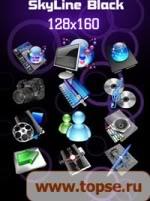 .::Foro Oficial Menu Icons 128x160::. - Página 2 SkyLine_Black_128x160