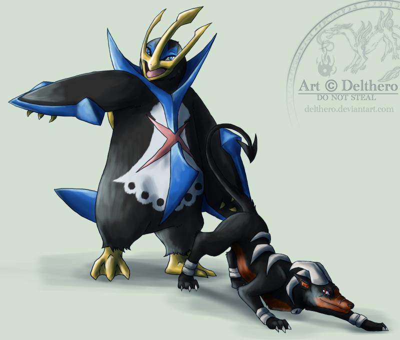 Del's Pokémon Drawings - Page 2 HounEmpCommission1