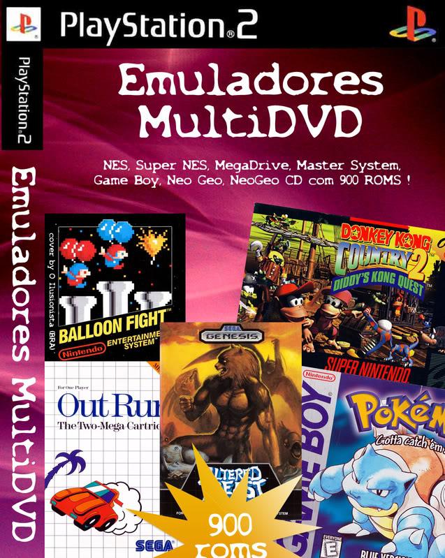 DVD de Emuladores + Roms - PS2   NTSC Multiemugu4