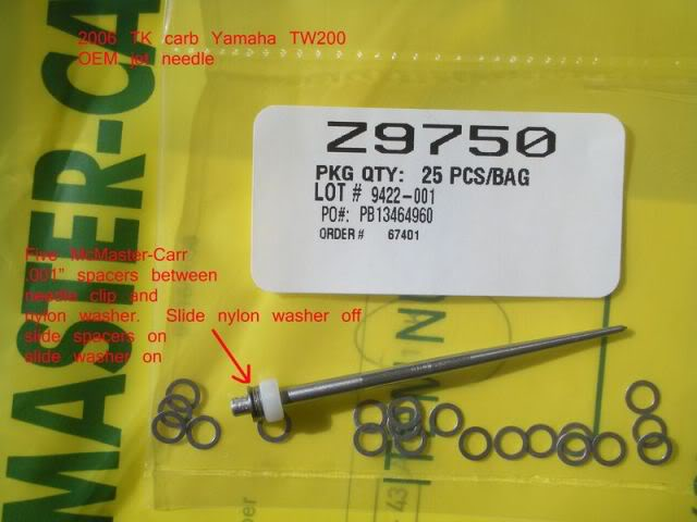 TK carb Main jet, needle spacing change TKsixsmall6