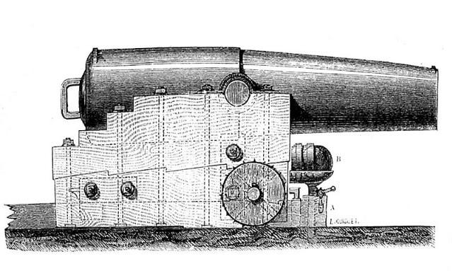 Encorazados, monitores y primeros barcos blindados 800px-PaixhansCanonImage