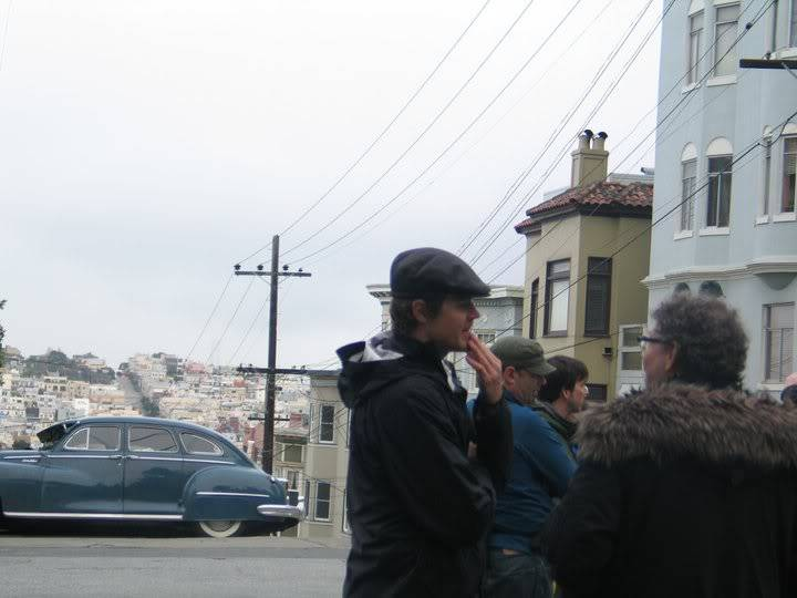 On set pic in SF and two pics of Walter Salles  47594_174791125888004_115425158491268_435288_3241500_n