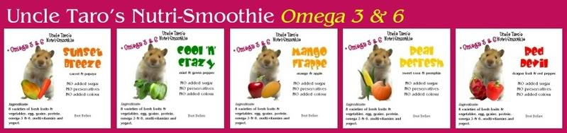 Uncle Taro's Nutri-Smoothie for your HAMSTER & GERBIL NutrismoothieOmegaserial