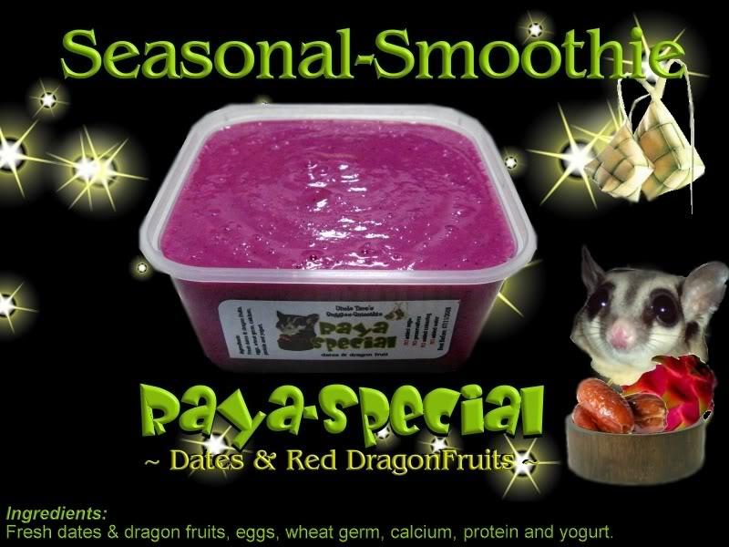 Uncle Taro's Suggie-Smoothie for Sugar Glider Rayablack