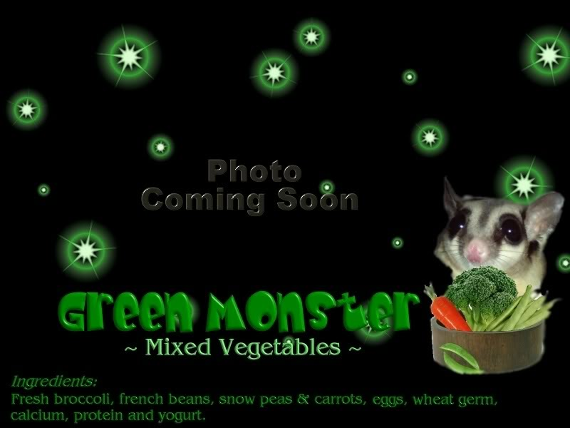 Uncle Taro's Suggie-Smoothie for Sugar Glider Greenmonsterblack