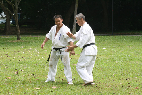Training with one of the world's top ten Karate master