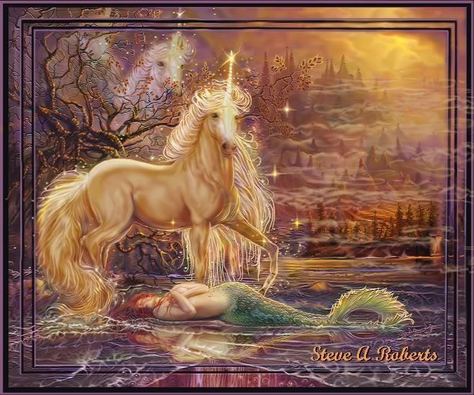 Fantasy art - Page 2 Themermaidunicorn
