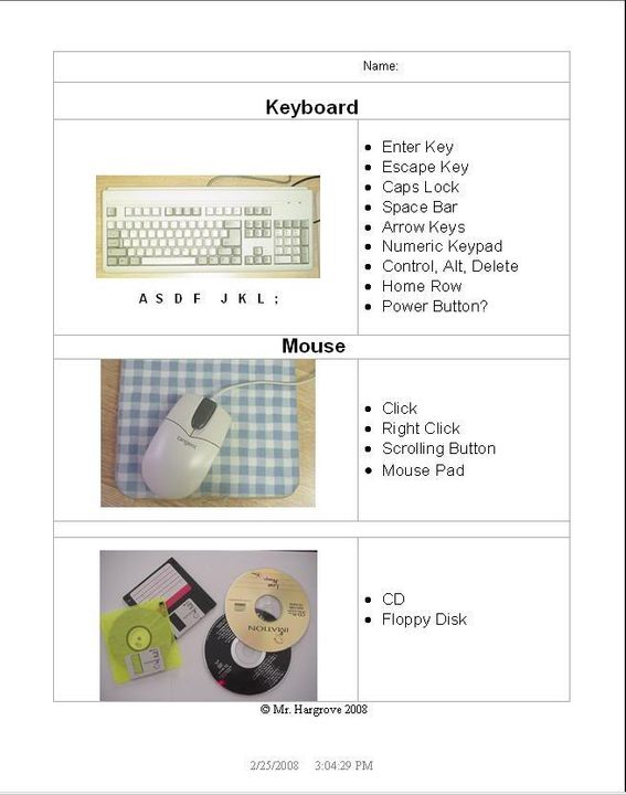 Keyboarding with Business Applications (2-28-2008) Computerparts2