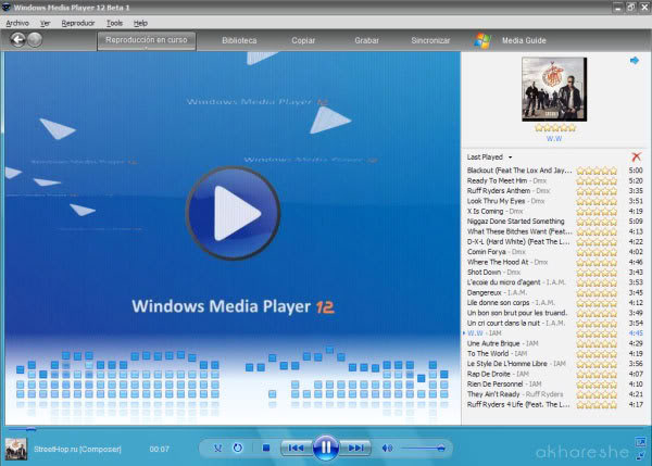 Windows media player 12 WINDOWS_MEDIA_PLAYER_12