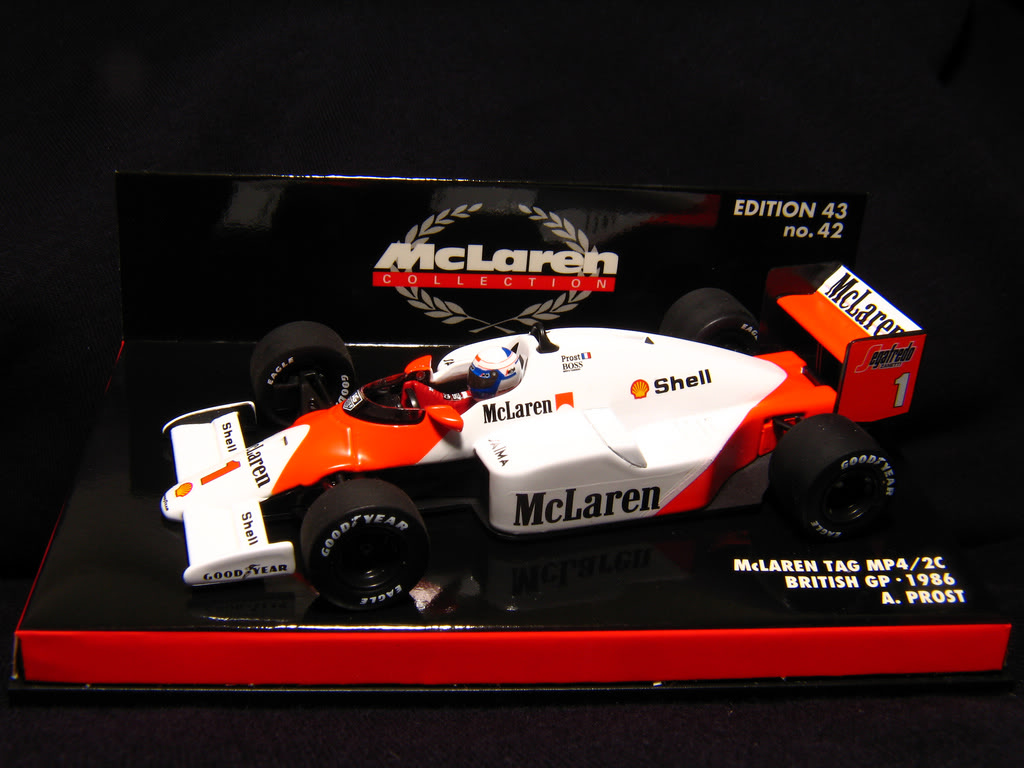 Extrayendo pilotos de réplicas F1 escala 1/43 Prost01