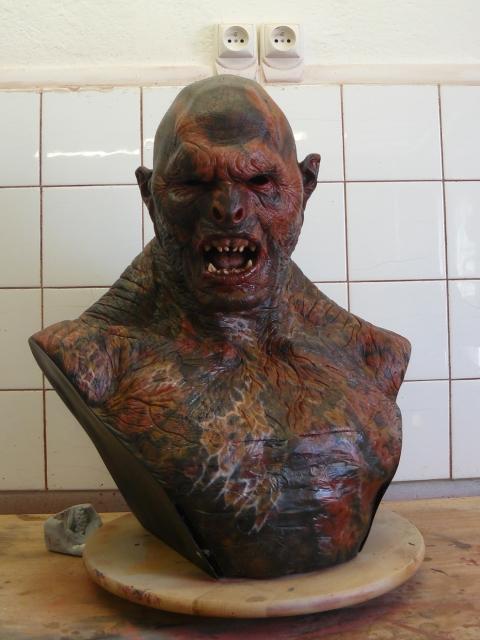 Le Seigneur des anneaux     buste 1/1 de Lurtz LurtzProtopeinture02
