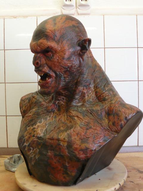 Le Seigneur des anneaux     buste 1/1 de Lurtz LurtzProtopeinture03