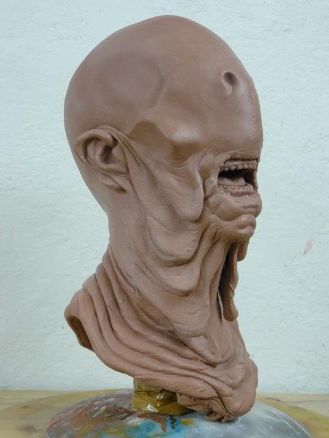 Le Labyrinthe de Pan : Paleman buste 1/1 Palemansculpt002_zpsec7d433a