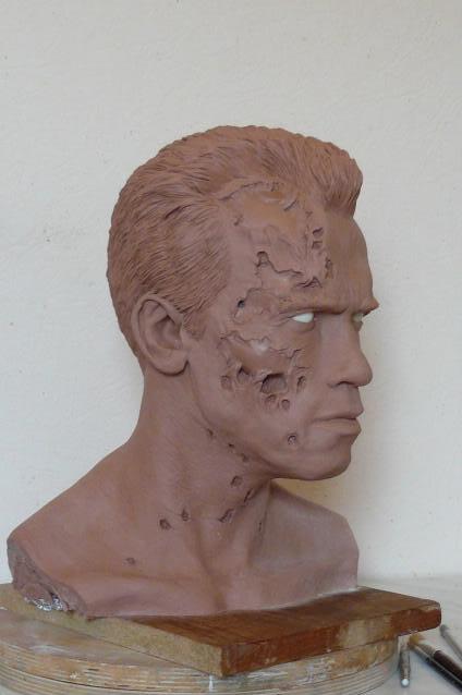 Terminator 2 / Arnold Schwarzenegger   peinture finie Fini04