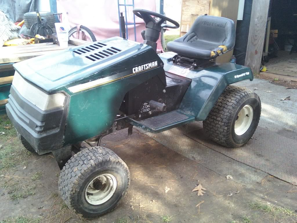 Heres My craftsman rider 14.5hp i/c gold ohv 1126011314
