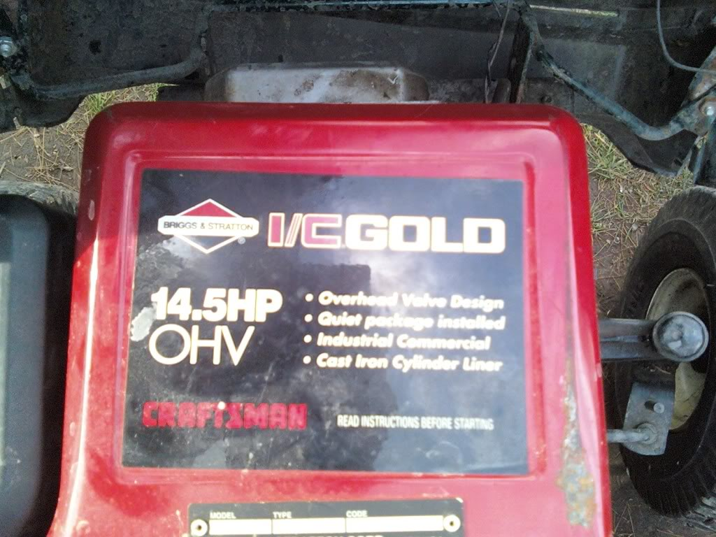 Heres My craftsman rider 14.5hp i/c gold ohv 1126011314a