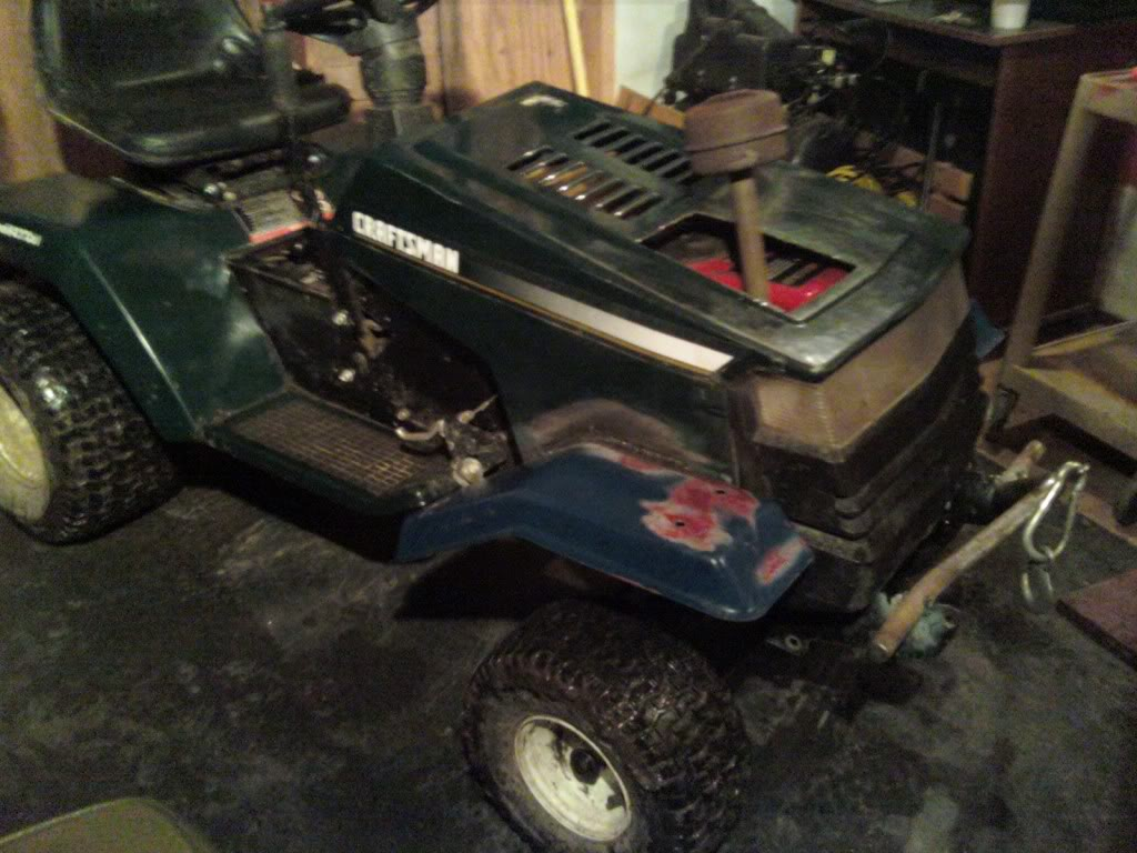 Heres My craftsman rider 14.5hp i/c gold ohv 1205012009