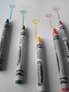 A Splash Of Colour !!! Crayons