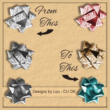 Holiday Greyscale Bows - By: Designz By Lou Preview-1