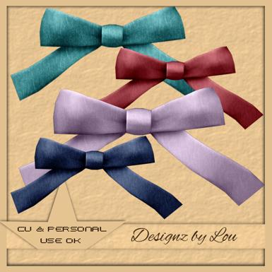 Denim Bows - By: Designz By Lou Preview1