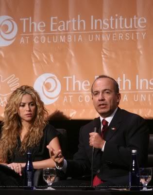 Shakira at a press conference at Columbia University, New York Normal_004690_4401