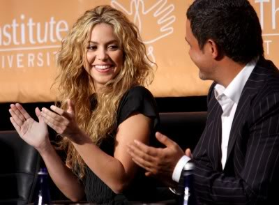 Shakira at a press conference at Columbia University, New York Normal_01_2812291