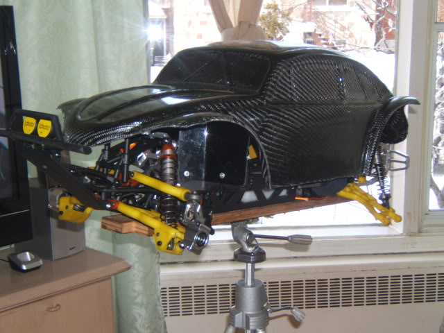 nouvel realisation d un  cab de baja 5 t fibre de carbonne Photo058
