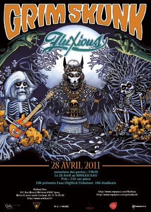 Concert  Grimskunk+Fluxious 28 avril au Ninkasi Kao Flyers-grim-skunk-fluxious