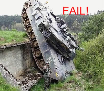 Fail! Tank-accident