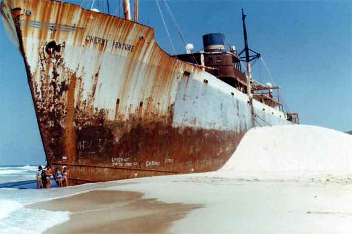 The wreck of the cherry venture Cherry-venture