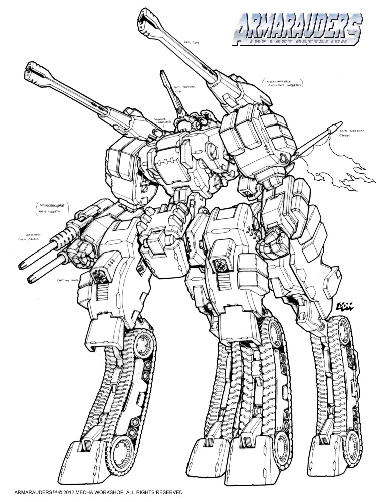 Mecha Workshop: Armarauders = AWESOME!!!! LR-Centaurian-Command_Chiron-03