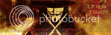 V from Vendetta Firmavendettacopia