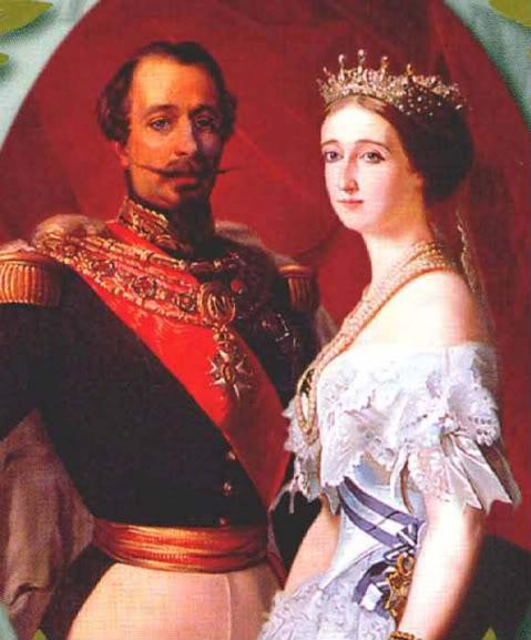 Eugenia de Montijo, emperatriz de Francia NapoleonIIIandEugeniebyWinterhalter