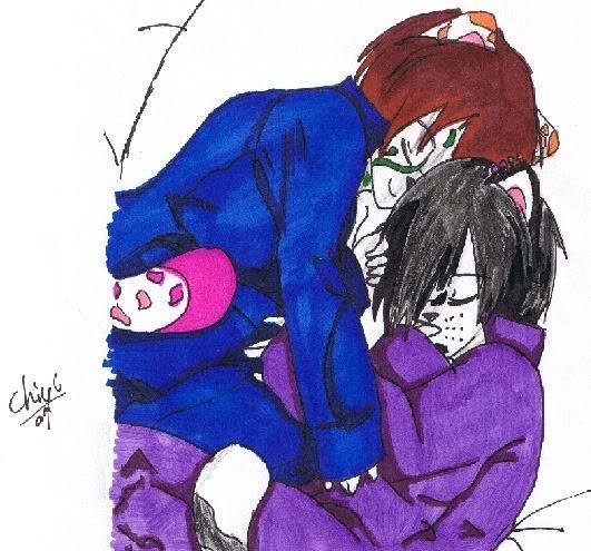 naoki's art!!!! Cuddle