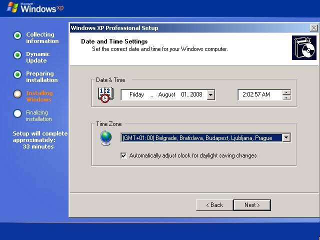 Instalacija XP-a Tut18
