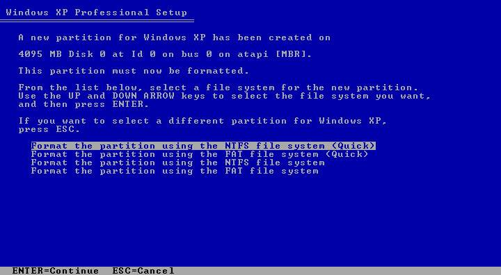 Instalacija XP-a Tut5