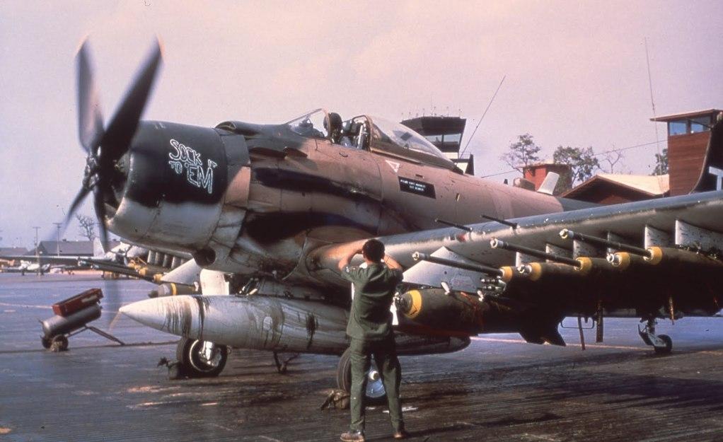 A-1J Skyraider  A-1H56thSOWSockItToEmSEAgMerritt
