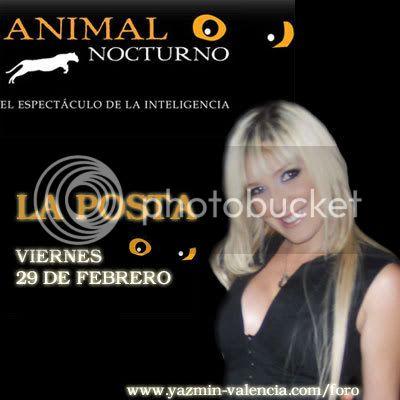 LA POSTA VIERNES 29 FEB ANIMAL NOCTURNO Animal-noc-promo