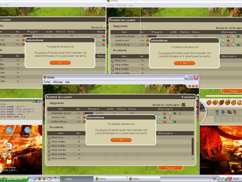 Screen en vrac Tripleuplvl100