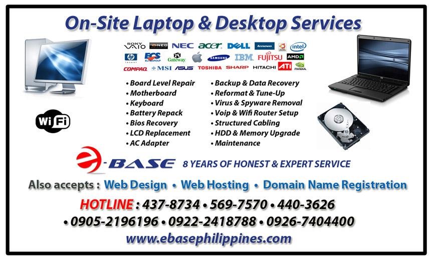 Desktop & Laptop Repair EbasePhilbanner