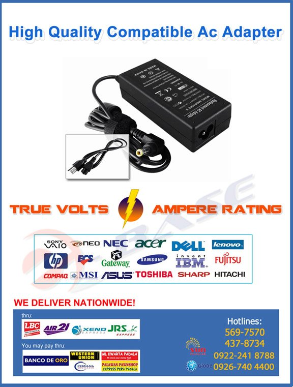 Laptop Adapter - Ebase Philippines Adapternew