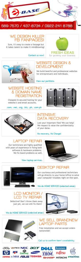 On-site Desktop & Laptop Repair - Ebase Philippines Ebasefanpagefortpc