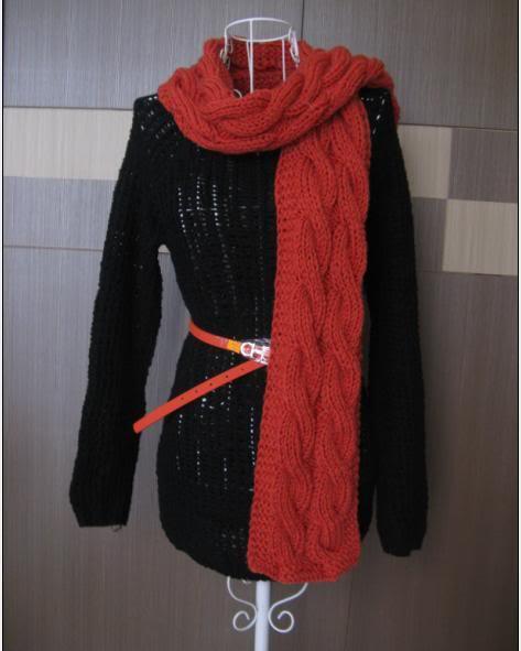 Cho cháu hỏi cách đan khăn vặn thừng như hình với  20110912171418_5