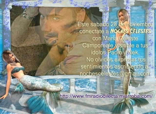PAOLO EN NOCHES CELESTES: 22 H /ARGENTINA Nekpaolos11