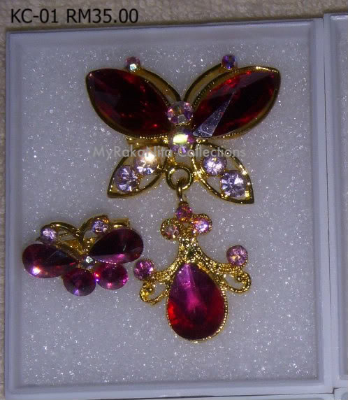 Swarovski Crystal & Pearl Brooches From Sabah KC-01-RM35-1