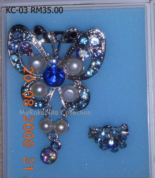 Swarovski Crystal & Pearl Brooches From Sabah KC-03-RM35-1