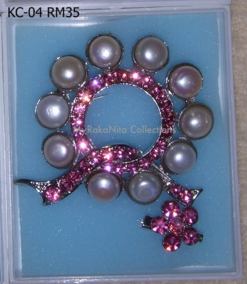 Swarovski Crystal & Pearl Brooches From Sabah KC-04-RM35-1