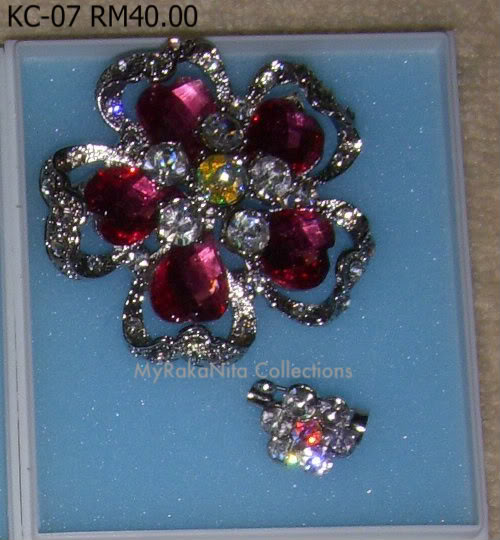 Swarovski Crystal & Pearl Brooches From Sabah KC-07-RM40-1